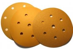Круги GOLD 150мм на липучке, 15 отв