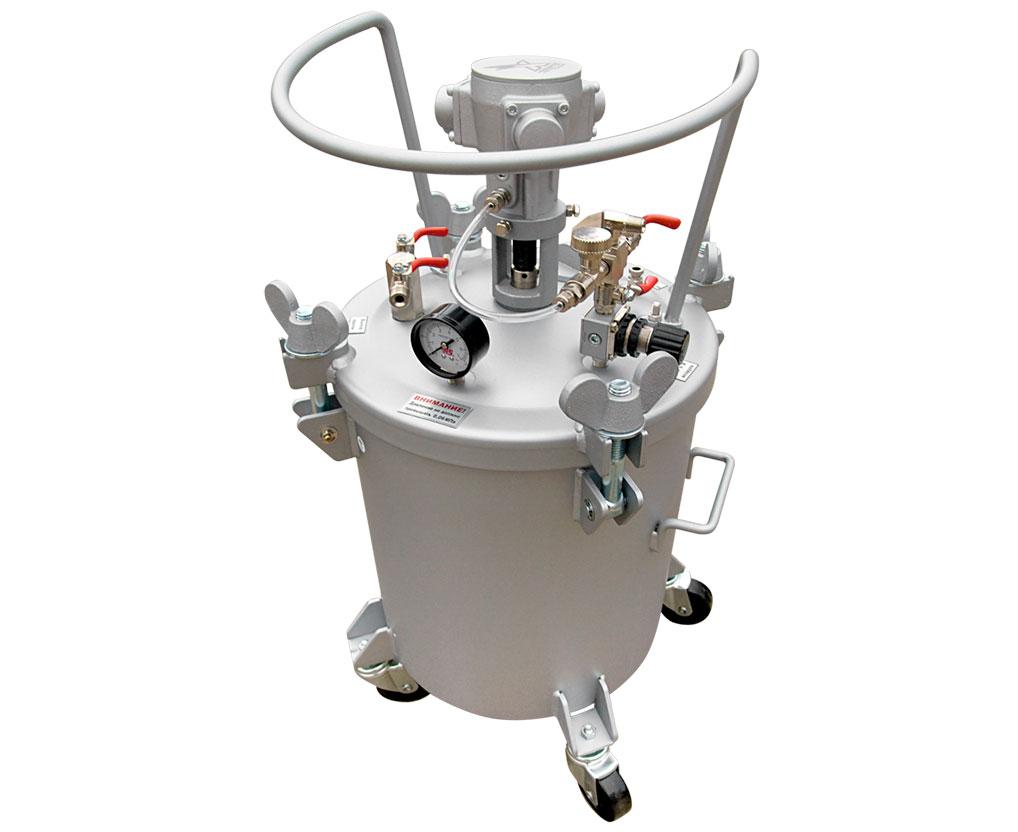 Бак красконагнетательный с автоматической мешалкой БК-40ПВ, 40 литров